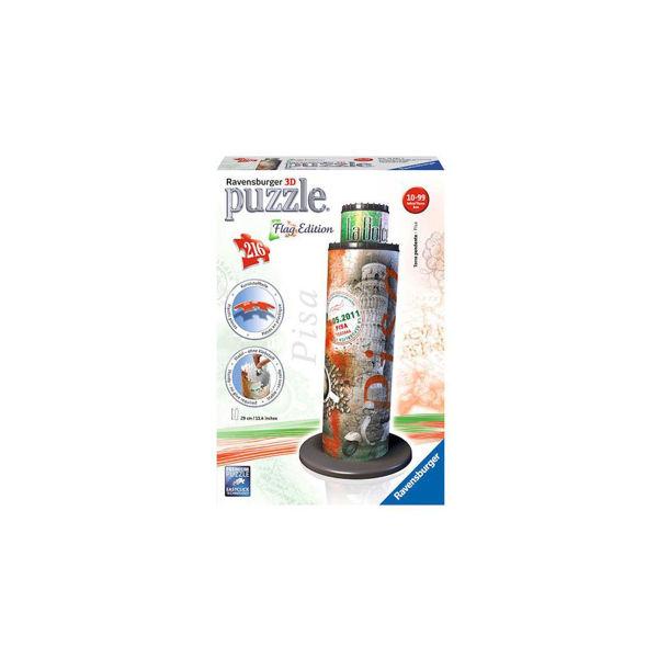 Ravensburger 3D Puzzle Πύργος της Πίζας Flag Edition (12581)