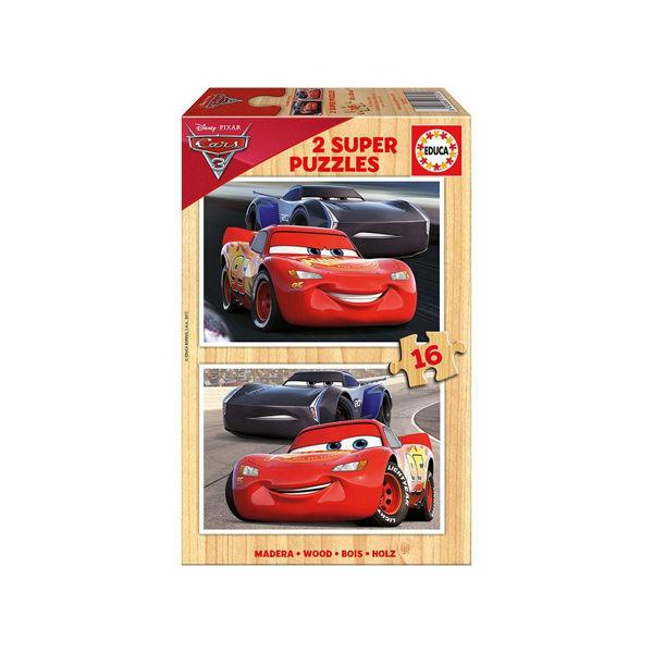 Educa 2x16 Super Wooden Puzzles Cars (17172)