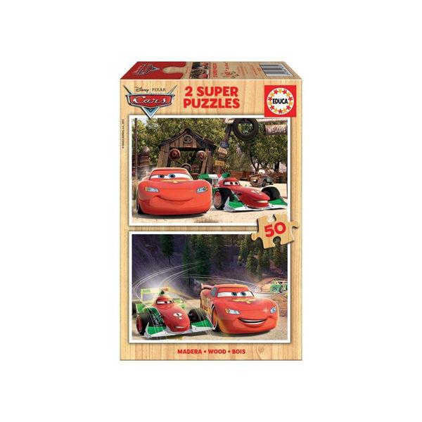 Educa 2x50 Super Wooden Puzzles Cars (16372)