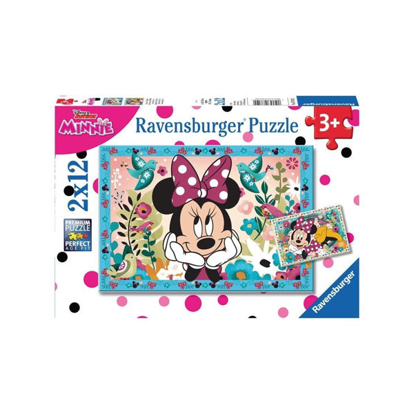 Ravensburger Puzzle 2x12 Minnie Mouse (07619)