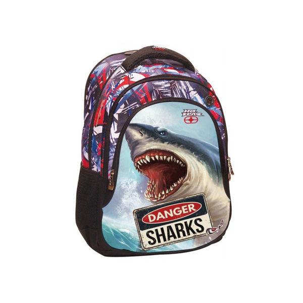 No Fear Τσάντα Δημοτικού Shark (347-40031)