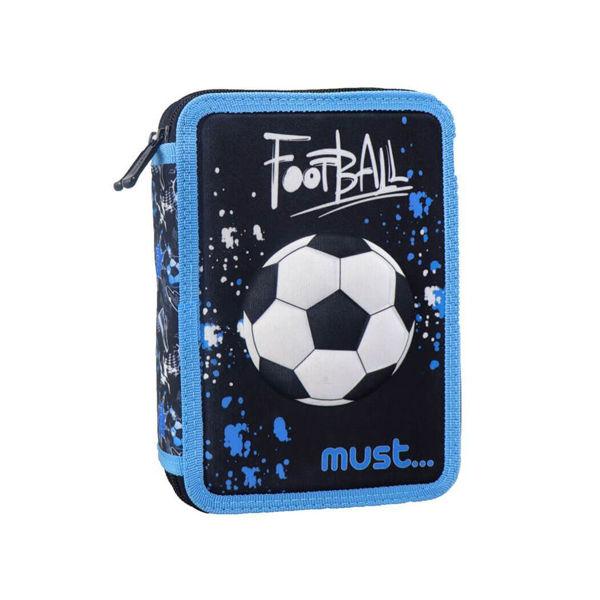 Must Κασετίνα Διπλή Γεμάτη Football 3D (000579820)