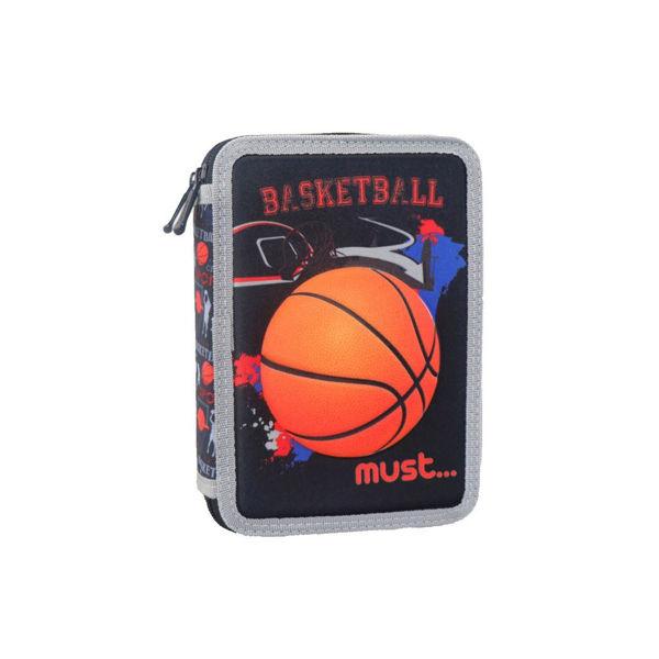 Must Κασετίνα Διπλή Γεμάτη Basketball 3D (000579806)