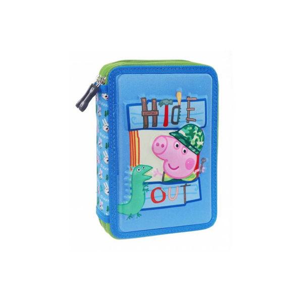Peppa Pig Κασετίνα Διπλή Γεμάτη 3D George (000482428)