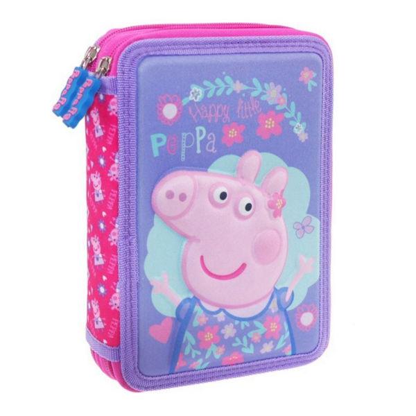 Peppa Pig Κασετίνα Διπλή Γεμάτη 3D (000482427)