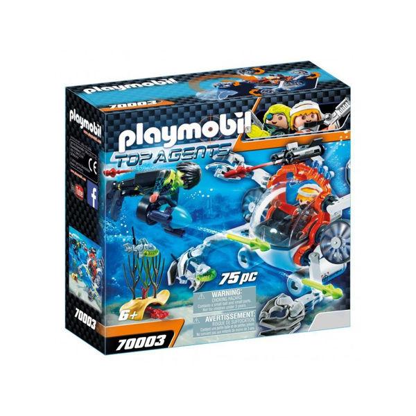 Playmobil Top Agents Υποβρύχιο Σκάφος Της Spy Team (70003)