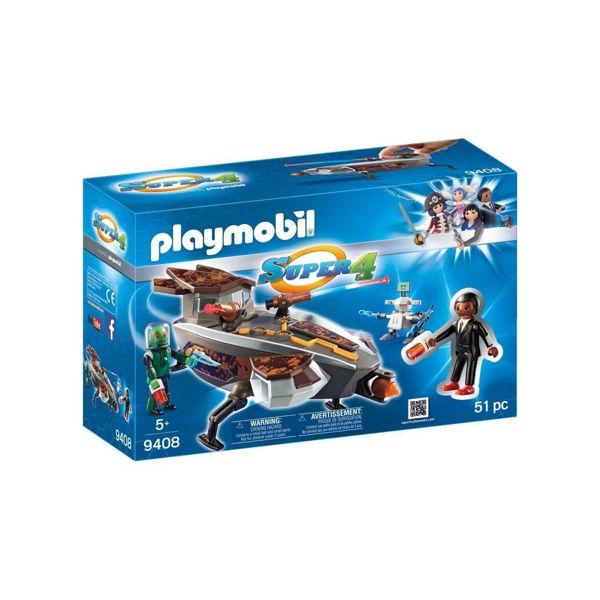 Playmobil Super 4 Ο DNA με Εξωγήινο και Διαστημόπλοιο (9408)