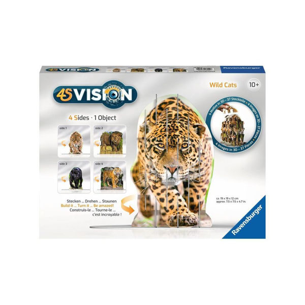 Ravensburger 4S Vision Puzzle Wild Cats (18051)