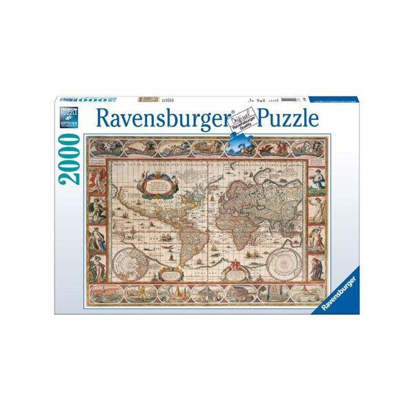 Ravensburger Puzzle 2000τεμ Map Of The World From 1650 (16633)