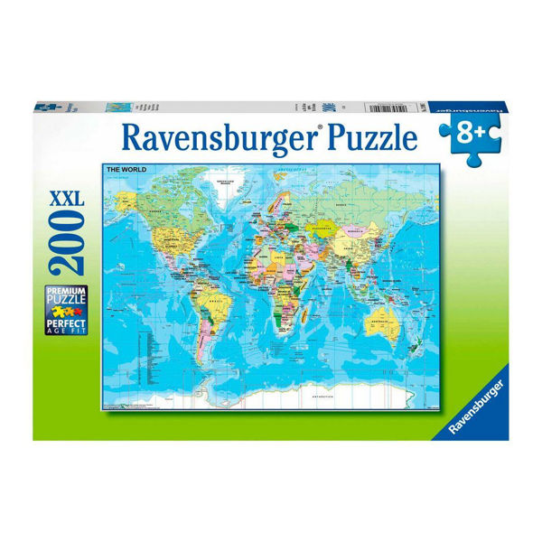 Ravensburger Puzzle 200τεμ Map Of The World (12890)