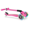 Globber Scooter Primo Foldable Fantasy Lights Flowers Neon Pink 3 Ρόδες (434-110)