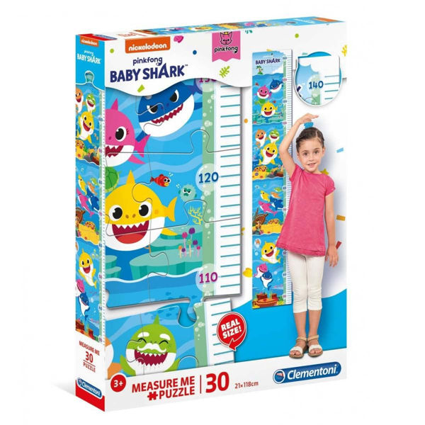 Clementoni Puzzle Measure Me 30τεμ Baby Shark (20340)