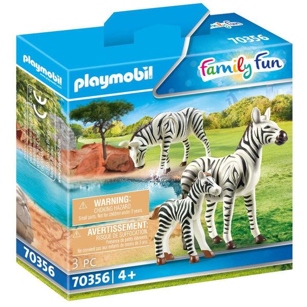 Playmobil Family Fun Δύο Ζέβρες Με Το Μικρό Τους (70356)