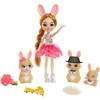 Enchantimals Royals Brystal Bunny Κούκλα & Οικογένεια Λαγουδάκια (GYJ08)