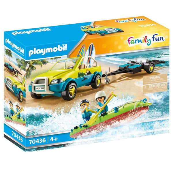 Playmobil Family Fun Αυτοκίνητο Με Ανοιχτή Οροφή & Κανό (70436)
