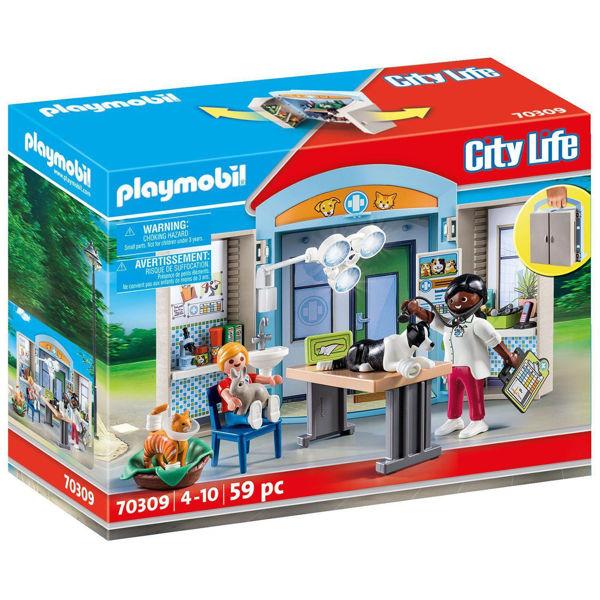 Playmobil City Life Play Box Κτηνιατρείο (70309)