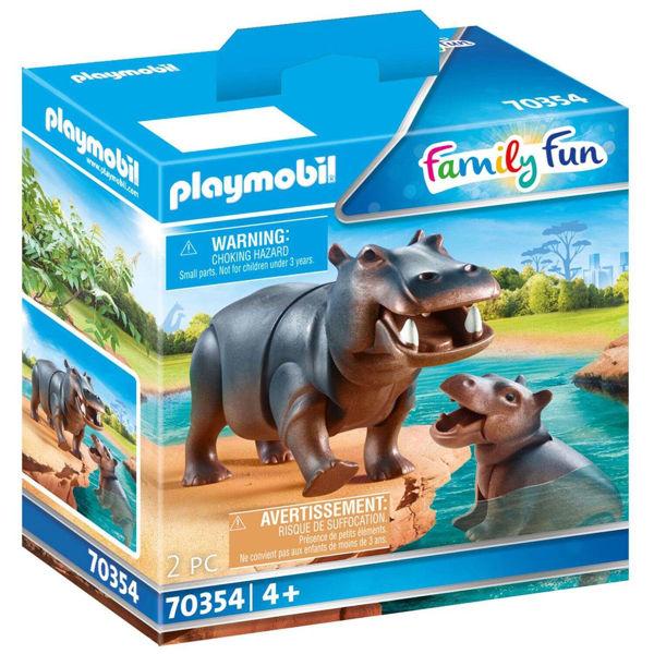 Playmobil Family Fun Ιπποπόταμος Με Το Μικρό Του (70354)