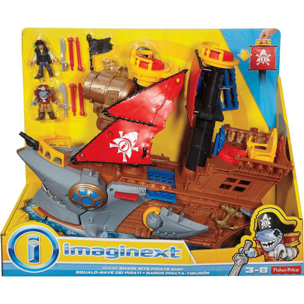 Fisher Price Imaginext Πειρατικό Καράβι Καρχαρίας (DHH61)