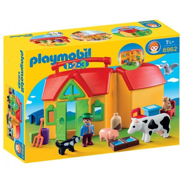 Playmobil 1.2.3. Φάρμα-Βαλιτσάκι (6962)