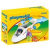 Playmobil 1.2.3. Αερπλάνο Με Επιβάτη (70185)