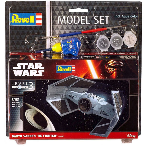 Revell Model Set Star Wars Darth Vaders TIE Fighter 1/121(03602)