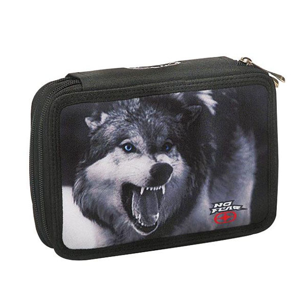 No Fear Κασετίνα Διπλή Wolf (347-32100)