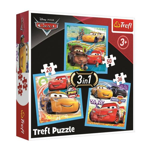 Trefl Puzzle 3in1 Cars (34848)