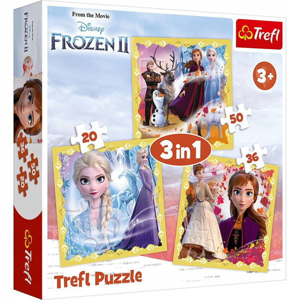 Trefl Puzzle 3in1 Frozen II (34847)
