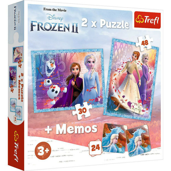 Trefl Puzzle 2τεμ & Memory Frozen II (90814)