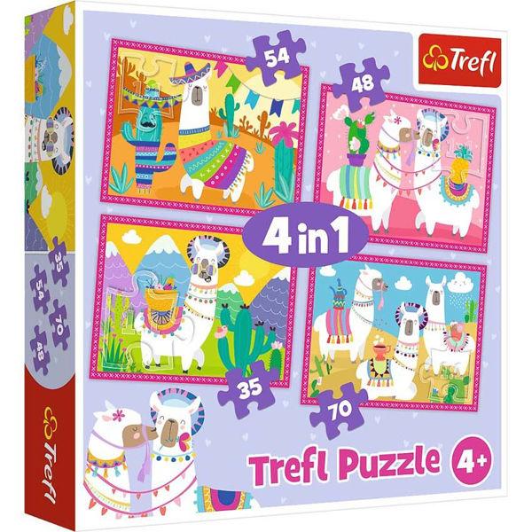 Trefl Puzzle 4in1 Llama (34322)