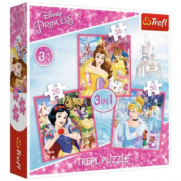 Trefl Puzzle 3in1 Disney Princess (34833)