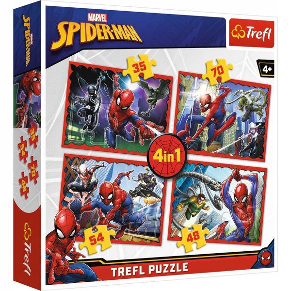 Trefl Puzzle 4in1 Spiderman (34293)
