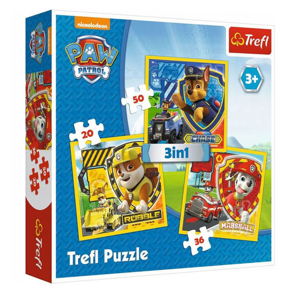 Trefl Puzzle 3in1 Paw Patrol (34839)