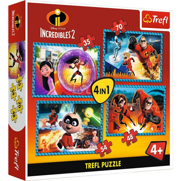 Trefl Puzzle 3in1 Incredibles 2 (34306)