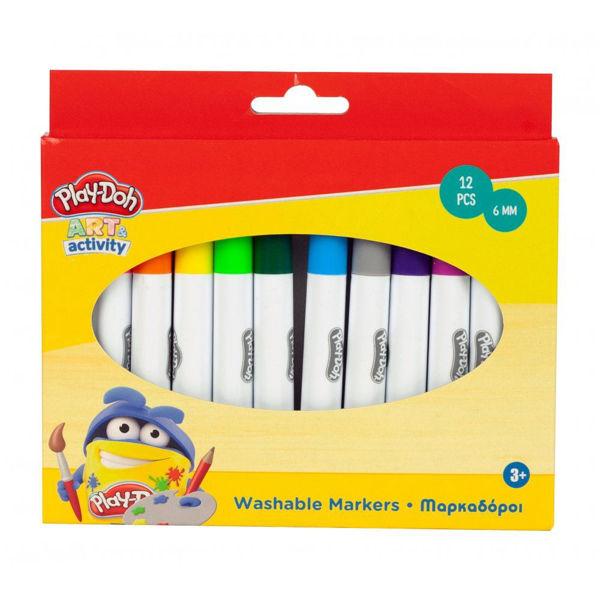 Play-Doh Art Activity Μαρκαδόροι Washable 12τεμ (320-00002)