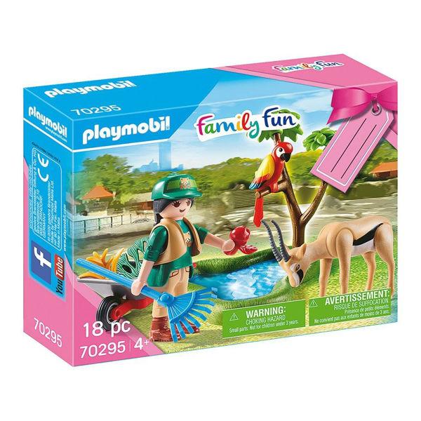 Playmobil Family Fun Φροντιστής Ζωολογικού Κήπου Με Ζωάκια (70295)