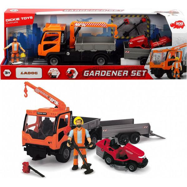 Dickie Σετ Όχημα Gardener Με 1 Φιγούρα, Φως & Ήχο (383-8006)
