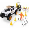 Dickie Σετ Όχημα Road Construction Με 1 Φιγούρα, Φως & Ήχο (383-8004)