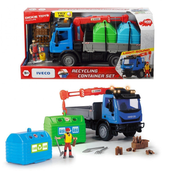 Dickie Φορτηγό Ανακύκλωσης Με 1 Φιγούρα, Φως & Ήχο (383-6003)