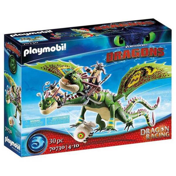 Playmobil Dragons Πέτρος & Πέτρα Με Δικέφαλο Δράκο Ρέψιμο & Αναγούλα (70730)