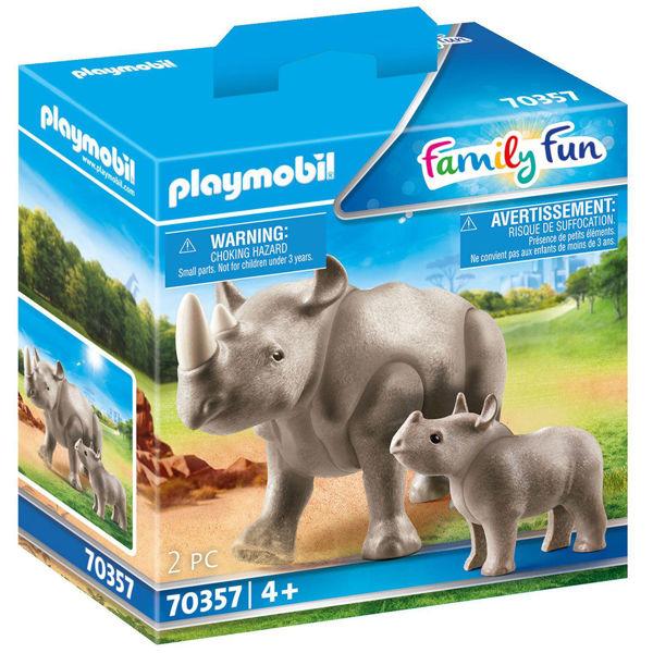 Playmobil Family Fun Ρινόκερος Με Το Μικρό Του (70357)