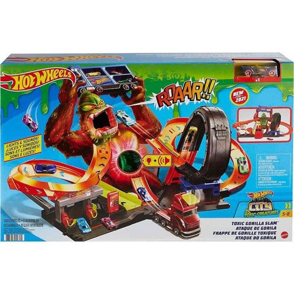 Hot Wheels Toxic Gorilla Slam Plyset (GTT94)